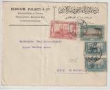 Osmanisches Reich / Türkei, 1921, interessante MiF auf Auslandsbrief von Constantinopel nach Aue (D)