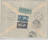 Libanon, 1932, nette MiF rs. auf Luftpost- Auslandsbrief von Beyrouth nach Nürnberg