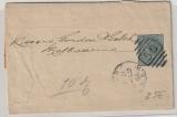 Australien, New South Wales, 1/2- Penny- Streifband, gelaufen nach Melbourne