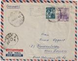 Ägypten, 1956, 52 Mills. MiF auf Auslands- Lupobrief nach Blankenfelde (D), mit Zensur (?)