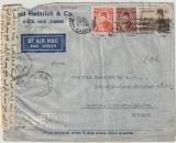Ägypten, 1951, nette MiF auf Auslands- Lupobrief nach Berlin- Lichterfelde (D), mit Zensur