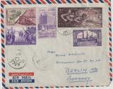 Ägypten, 1957 (?), 52 Mills. MiF auf Auslands- Lupobrief nach Berlin (D), mit Zensur (?)