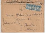Algerien, 1927, 50 Centimes (3x) MeF auf Auslandsbrief von Oran nach Berlin