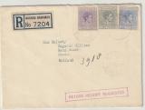 Bahamas, 1939, 7,5 Pence MiF auf Auslands- Einschreiben von Nassau via New York nach Doorn (NL), an Wilhelm II. !!!