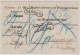 Baden, 1872, Unfrankierter Auslagen- Paketbegleitbrief- Vorderseite von Carlsruhe nach Rippolingen (?)
