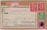 Durch Deutsche Dienstpost Niederlande, DR, 1944, DR- Mi.- Nr.: 894 u.a. auf / als R.- Fernbrief von Arnheim nach Hilden