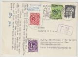 BRD / Österreich, 1972, Mi.- Nr.: 635, u.a. Marken als MiF auf Auslands- Postkarte von Mannheim nach Obertraun (A)