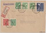 Berlin, 1948, Mi.- Nr.: SBZ 169 (Berlin 55) + Kontrollrat 962, u.a. auf eingeschriebenem Ortsbrief innerhalb Berlin´s