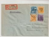 Berlin, 1948, Mi.- Nr.: SBZ 173, 175+ 191 + Bizone- Bandaudruck 6 Pfg., als MiF auf Ortseinschreiben innerhalb Berlin´s