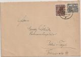 Berlin, 1949, Mi.- Nr.: 25 + 42, als MiF auf Ortsbrief innerhalb Berlin´s
