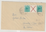 DDR, 1960, Mi.- Nr.: WZ 6 als EF auf Fernbrief von Berlin nach Masserberg