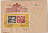 DDR, 1950, Mi.- Nr.: Bl. 7, auf Debria- Umschlag, mit 3 verschiedenen Sonderstempeln