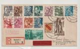 FRZ / Baden, Mi.- Nr.: 1-13 u.a. als Satzbrief- MiF auf Eilboten- Einschreiben- Fernbrief von Rastatt nach Kassel