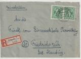 AM- Post, Deutsche Ausgabe, Mi.- Nr.: 31 (2x) als MeF auf Einschreiben- Fernbrief von Schwarzenbeck nach Friedrichsruh