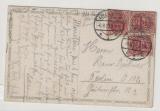 Allenstein, Mi.- Nr.: 16 (3x) als MeF auf Fern- Postkarte von Allenstein nach Berlin