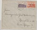 DR, 1939, WHW- Spendenmarken, (1938/39, Gau Thürigen) Verwendet als Porto auf Fernbrief von Meiningen nach Schweinfuhrt (?)