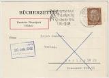 DR / Dienstpostpost, 1942, Mi.- Nr.: 513 als EF auf Bücxherzettel (!) per Dt. Dienstpost Ostland innerhalb Berlin´s (?)