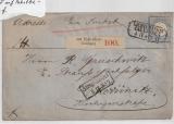 DR, 1872, Mi.- Nr.: 5 als EF auf Paketbegleitbrief, für ein Paket von Lichtenstein- Callberg nach Chemnitz