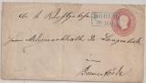 Hannover, 1863 (?), 1 Gr.- GS- Umschlag (U 8 II?), als Fernbrief von Dorum nach Bremervörde (2 bessere Stempel!!!)