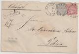 NDP, 1869, Mi.- Nr.: 16 + 17 als MiF auf Einschreiben von Spandau nach Berlin
