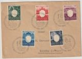 GG., 1943, Mi.- Nr.: 105- 109 als Satzbrief- MiF auf Fernbrief von Krakau nach Bottrop