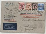 DR, 1933, Mi.- Nr.: 382 u.a. als MiF auf Luftpost- Auslandsbreief von Magdeburg nach Montevideo