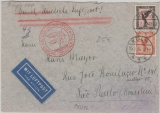 DR, 1934, Mi.- Nr.: 381 + 382 als MiF auf Flugpost- Auslandsbrief von Köln nach Sau Paulo (Brasilien)