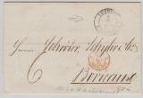 Lübeck, 1863, unfrankierter Brief nach Bordeux, Frankreich, mit gutem Stempel (zu dieser Zeit im Feuser unbekannt!)