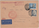 DR, 1935, Mi.- Nr.: 539 + 575 als MiF auf Flugpost- Auslandsbrief von Berlin nach Asuncion (Paraguay)
