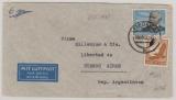 DR, 1937, Mi.- Nr.: 533 + 539 als MiF auf Flugpost- Auslandsbrief von Leipzig nach Buenos Aires (Argentinien)