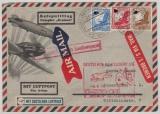 DR, 1935, Mi.- Nr.: 530 + 531 + 533 als MiF auf Katapult- Flugpost- Auslandsbrief vom Dampfer Bremen nach Wesermünde