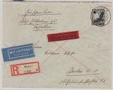 DR, 1937, Mi.- Nr.: 537 als EF auf Einschreiben- Flugpost- Inlandsbrief von Maiz nach Berlin