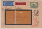 DR, 1938, Mi.- Nr.: 367 + 533 als MiF auf Luftpost- Eilboten- Auslandsbrief von Berlin nach Buenos Aires (Argentinien)