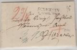 Meckl. Schwerin, 1828, Brief von Schwerin nach Hitzacker