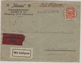 Weimar, 1926, Mi.- Nr.: 342 als EF auf Eilboten- Flugpost- Fernbrief von Königsberg nach Breslau
