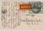 Weimar, 1926, Mi.- Nr.: 378 (4x) als MeF auf Flugpost- Fernpostkarte von Plauen nach Dresden, mit Flugbestätigungsstempel