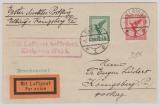 Weimar, 1928, Mi.- Nr.: 378 + 379 als MiF auf Erstflug- Flugpost- Drucksachen- Fernbrief von Elbing nach Königsberg