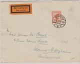 Weimar, 1927, Mi.- Nr.: 381 als EF auf Flugpost- Fernbrief von Glauchau nach Worms