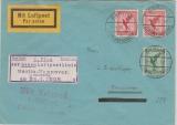 Weimar, 1928, Mi.- Nr.: 379+ 379 (2x) als MiF auf Erstflugbeleg von Berlin nach Hannover, mit Flugbestätigungsstempel!