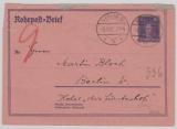Weimar, 1927, Mi.- Nr. RU 12, gelaufen innerhalb Berlin´s, per Rohrpost