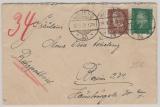 Weimar, 1928, Mi.- Nr.: 412 + 420 als MiF, gelaufen per Rohrpost innerhalb Berlin´s