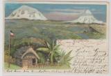 DOA, 1899, Stempel Dar-Es-Salaam, Mi.- Nr.: 7 als Ef auf guter Postkarte nach Cuxhaven und zurück! Rückläufer!
