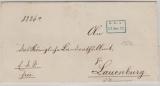Preussen, 1873, Brief nach Lauenburg, mit interessantem Eisenbahnbilettstempel