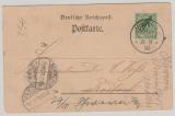 Kamerun, 1900, Mi.- Nr.: 2 als EF auf Postkarte von Viktoria nach Rostock, und von hier weitergesandt nach Schwerin
