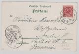 Kiautschou, 1898, Postkarte mit DR Mi.- Nr.: 47 als EF auf DMSP- Ansichts- Postkarte nach Berlin, selten!