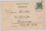 DOA, 1901,  3 Pesa DOA Überduck- GS (Mi.- Nr.: P9) mit Stempel Mpapua gelaufen als Orts- Postkarte