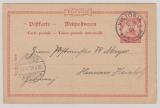 Kamerun, 1905,  10 Pfennig- GS (Mi.- Nr.: P9) mit Stempel VICTORIA, adressiert nach Hannover