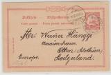 Kiautschou, 1902, 10 Pfennig- GS (Mi.- Nr.: P2) mit Stempel Tsingtau gelaufen nach Olten (CH), seltene Destination!