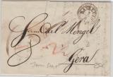 Bayreuth, ca. 1820, intressanter Stempel auf Brief nach Gera