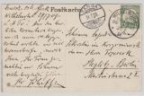 DOA, 1908, Mi.- Nr.: 31, als EF auf Postkarte von Wilhelmsthal via Tanga nach Berlin
